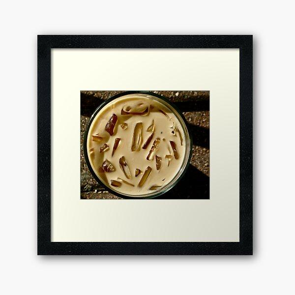 Iced Café Mocha Framed Art Print