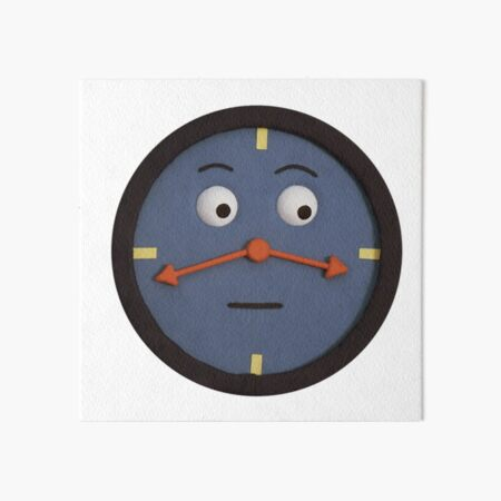 don't hug me i'm scared clock Art Board Print