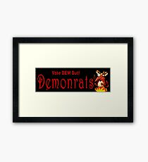 Demonrats Framed Print