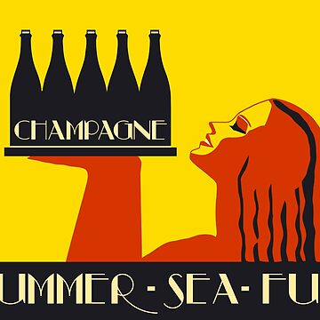 Champagne Summer Sea Fun by aapshop