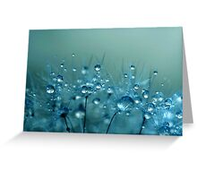 Blue Shower Greeting Card