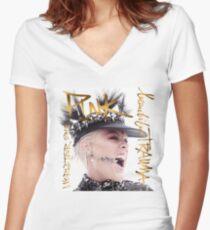 schönes tiefes Rosa 2019 Tour Trauma Mungung Shirt mit V-Ausschnitt