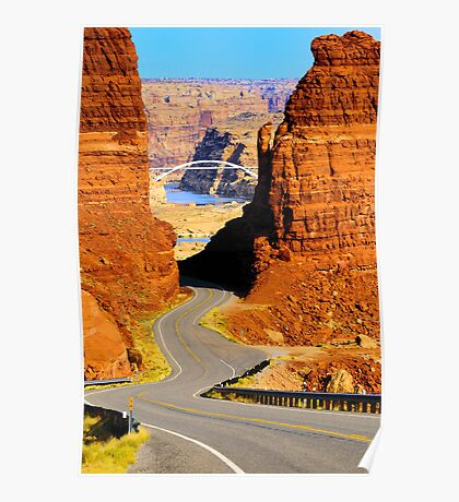 Road to the Colorado River Bridge Poster