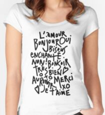 I HEART FRENCH Women's Fitted Scoop T-Shirt