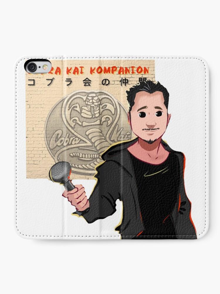 Alternative Ansicht von Kobra Kai Kompanion iPhone Flip-Case