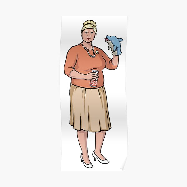 HR Pam - Dolphin Puppet Girl Poster