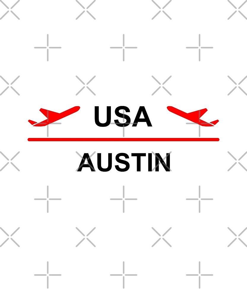 Austin USA Airport Plane Light-Color by TinyStarAmerica