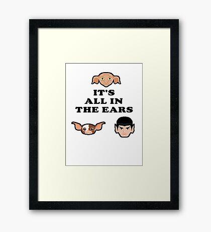 Bad ass ear club Framed Print
