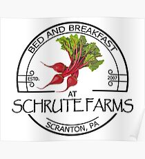 Schrute Farms Bed and Breakfast - Scranton, PA - The Office Poster