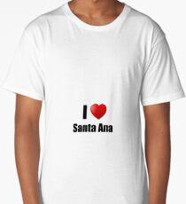 Santa Ana I Love City Lover Pride Funny Gift Idea Long T-Shirt