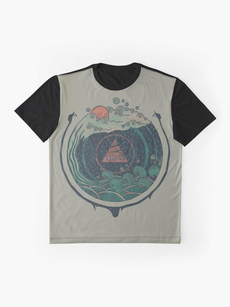 Alternative Ansicht von Wasser Grafik T-Shirt