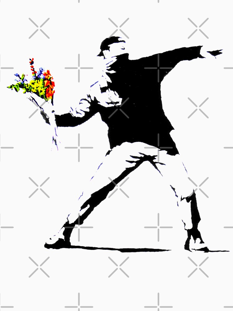 Rage, the Flower Thrower Banksy by retropopdisco