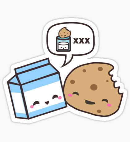 Milk and Cookies Sticker