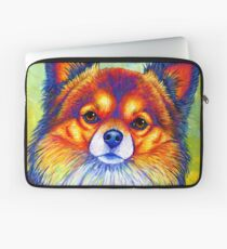 Colorful Long Haired Chihuahua Dog Laptop Sleeve