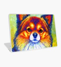 Colorful Long Haired Chihuahua Dog Laptop Skin