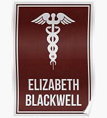 ELIZABETH BLACKWELL - Frauen in der Wissenschaft Poster