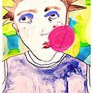 Bubble Gum Punk Chick by JennAshton