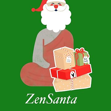 Zen Meditation Santa With Xmas Gifts Funny Shirt for Xmas by SABRA11