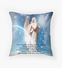 The Light Of The Holy Spirit Angel Throw Pillow