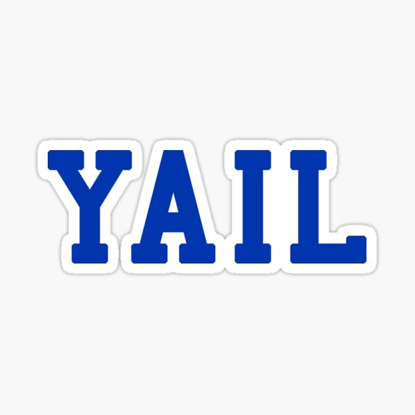 Yail (white letters) Sticker