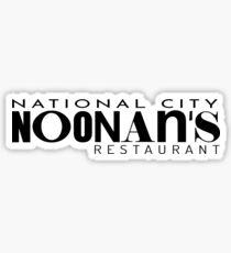 National City Noonans Restaurant Sticker