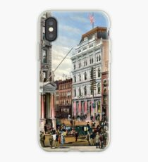 Rare large view of the New York Stock Exchange 1882 iPhone Case