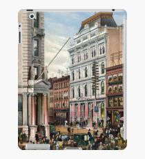 Rare large view of the New York Stock Exchange 1882 iPad Case/Skin