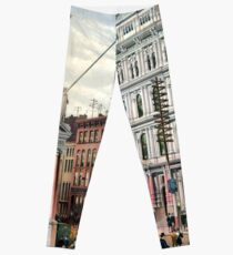 Rare large view of the New York Stock Exchange 1882 Leggings