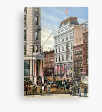 Rare large view of the New York Stock Exchange 1882 Metal Print