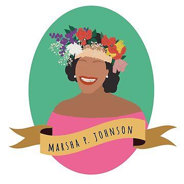 Marsha P Johnson Round Portrait by thefilmartist