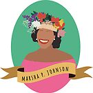 Marsha P Johnson Round Portrait by thefilmartist