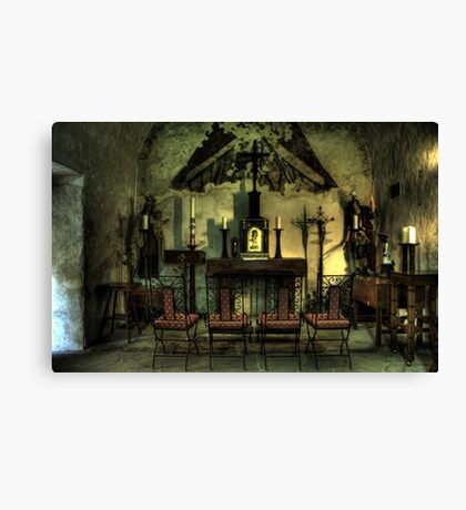 In the Mission Chapel Canvas Print