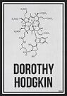 «DOROTHY HODGKIN - Mujeres en la ciencia» de Hydrogene