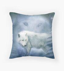 Weißer Wolf - Mondgeist 2 Kissen