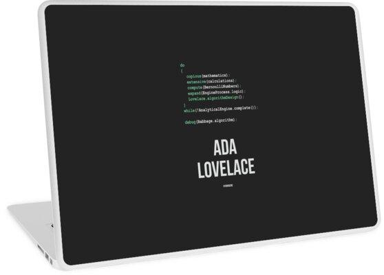 'ADA LOVELACE - Women in Science' Laptop Skin by Hydrogene