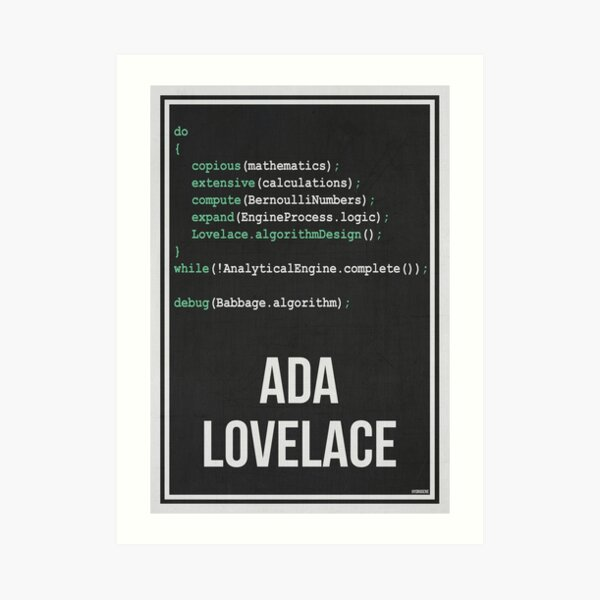 ADA LOVELACE - Women in Science Art Print