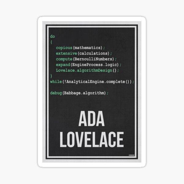 ADA LOVELACE - Mujeres en la ciencia Pegatina