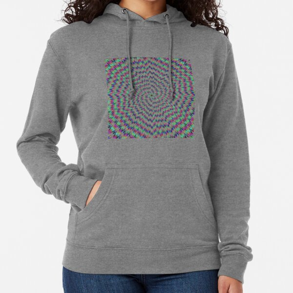 #abstract #blue #psychedelic #pattern #fractal #green #pink #design #decorative #graphic #digital #yellow #illustration #geometric #red #wallpaper #art #explosion #star #illusion #flower #purple Lightweight Hoodie