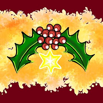 Christmas Holly by SidelineArt