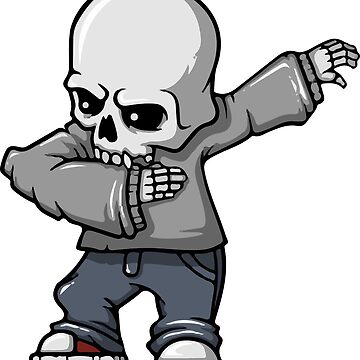 Dabbing Skeleton by NaurinDin