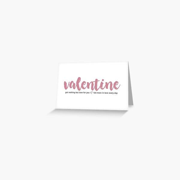 Valentine Youngblo*d lyrics 5 SOS Greeting Card