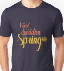 Dandelion in the spring Unisex T-Shirt