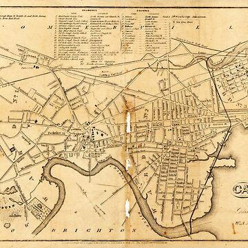 Map of Cambridge, Massachusetts (1857) by allhistory