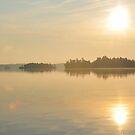 Sunrise over the Lake by Nancy Barrett