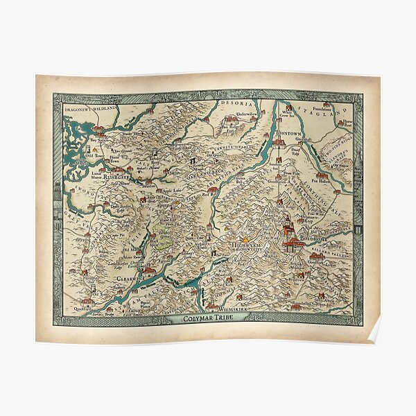 Lands of the Colymar Tribe and Surrounding Regions by Josephe Vandel Poster