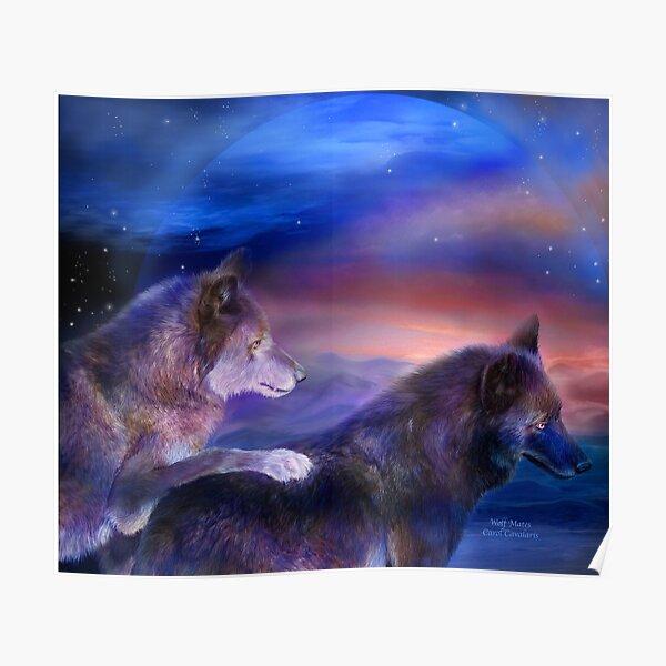 US Seller home accents wild animals spirit wolf art poster