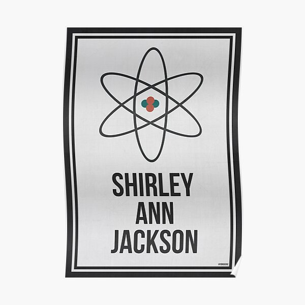 SHIRLEY ANN JACKSON - Arte de pared de Women In Science Póster