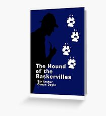 The Hound of the Baskervilles - Sherlock Holmes Book Cover Greeting Card