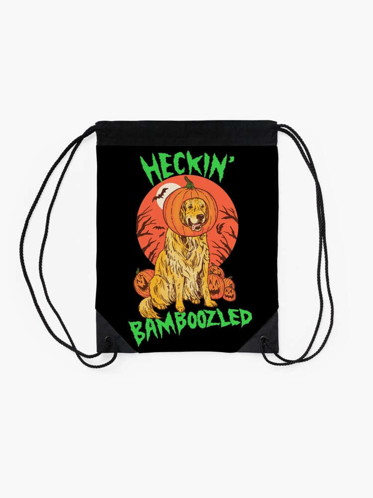 Alternate view of Doggo Lantern Drawstring Bag