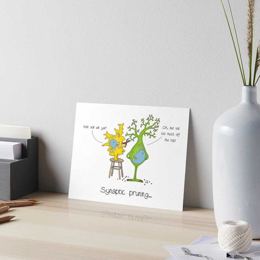 Rory Synaptic Pruning Art Board Print